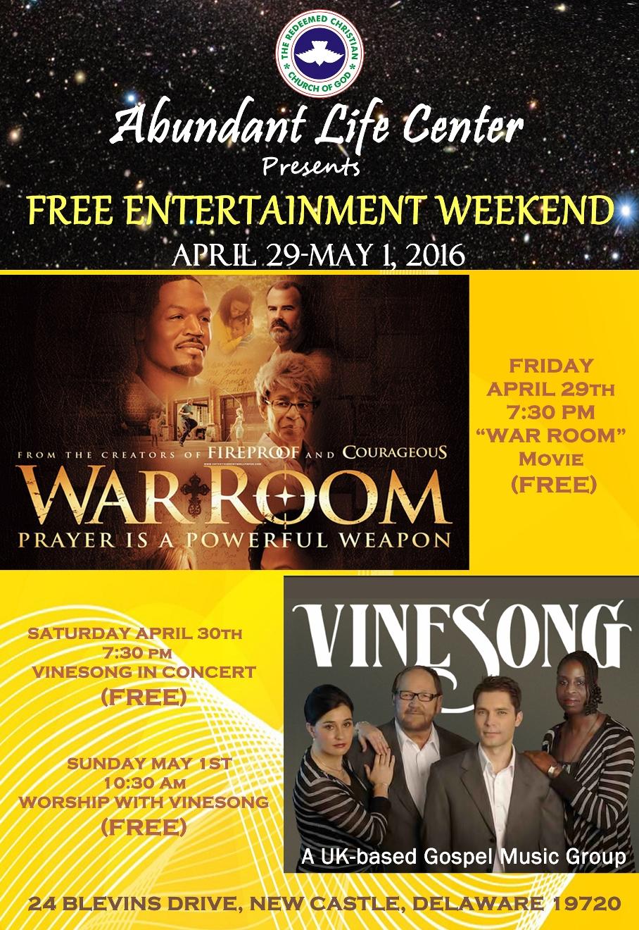 Free Entertainment Weekend